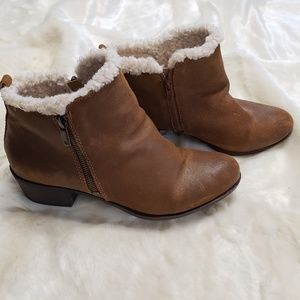 Lucky Brand Shearling Lined Booties - Size 11